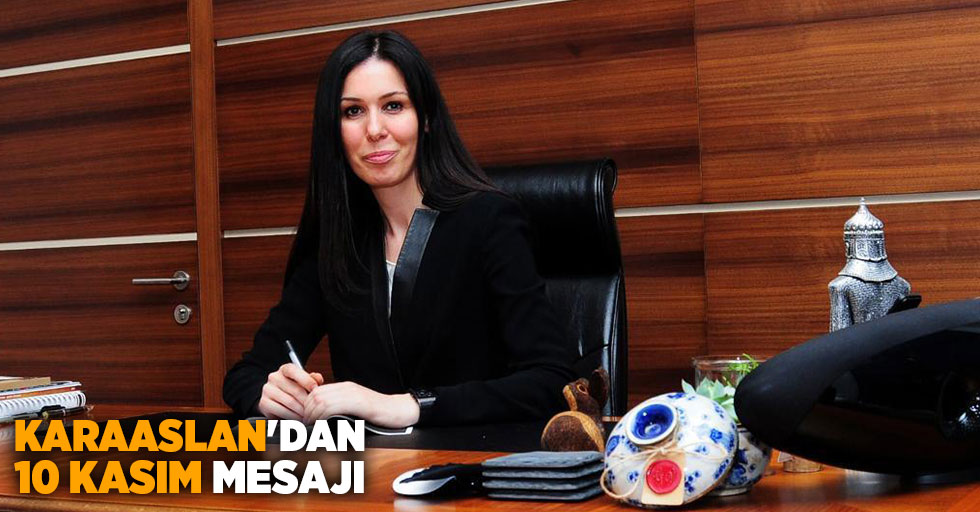 """AK Parti Genel Başkan Yardımcısı ve Samsun Milletvekili Çiğdem Karaaslan, """"Gazi Mustafa Kemal Atatürk'ün Vefatının 81. Yıldönümü"""" dolayısıyla bir mesaj yayımladı."""