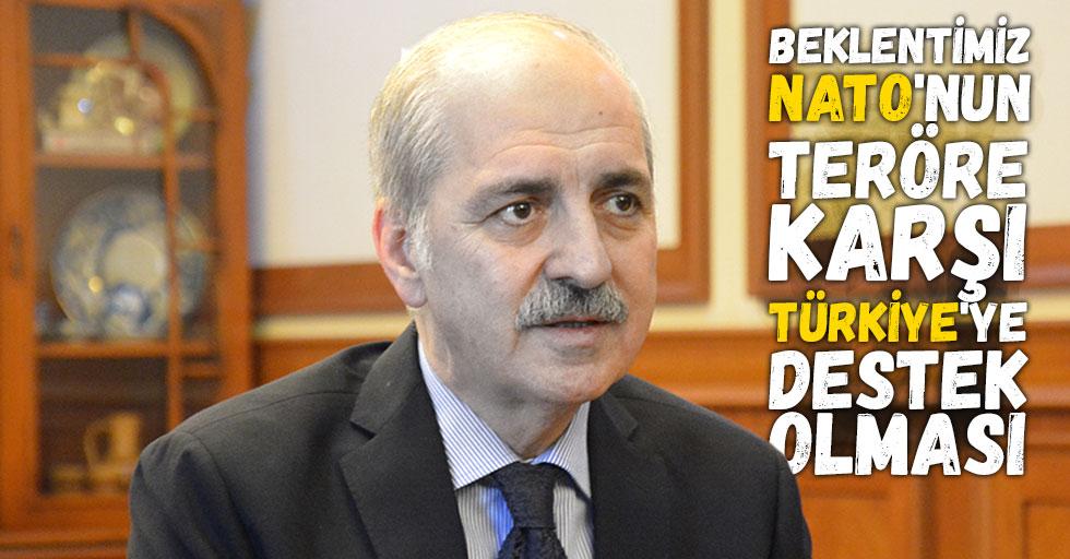 Beklentimiz NATO'nun teröre karşı Türkiye'ye destek olması
