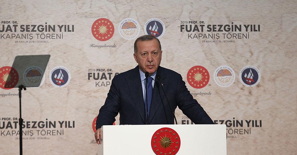 Cumhurbaşkanı Erdoğan, Prof. Dr. Fuat Sezgin Yılı Kapanış Töreni'ne katıldı