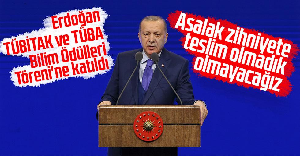 Cumhurbaşkanı Erdoğan, TÜBİTAK ve TÜBA Bilim Ödülleri Töreni'ne katıldı