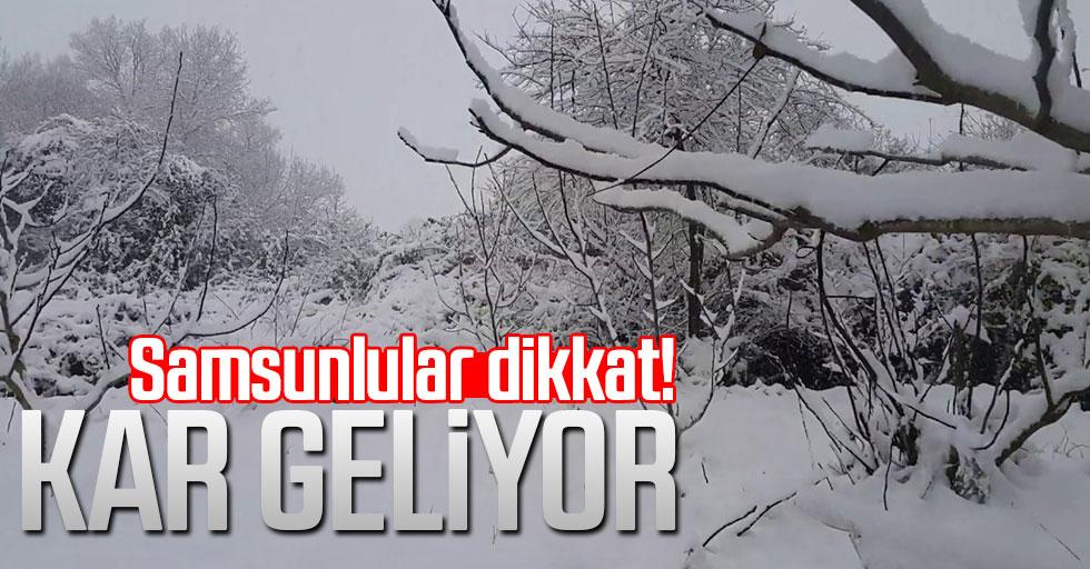Meteoroloji duyurdu: Samsun'a kar geliyor