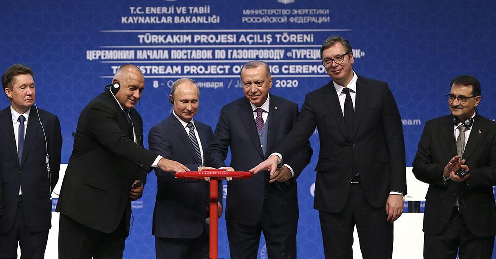 Cumhurbaşkanı Erdoğan, TürkAkım Projesi Açılış Töreni'ne katıldı