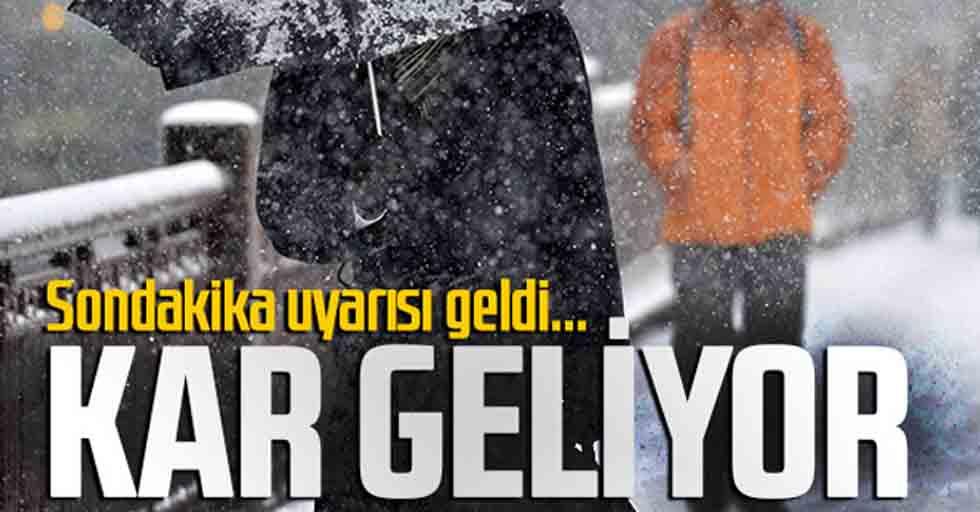 Samsun şehir merkezine kar geliyor