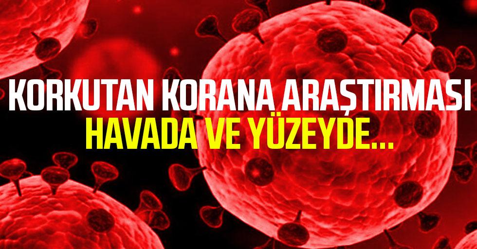 ABD'den endişe veren koronavirüs araştırması! Havada saatlerce, yüzeyde günlerce yaşıyor