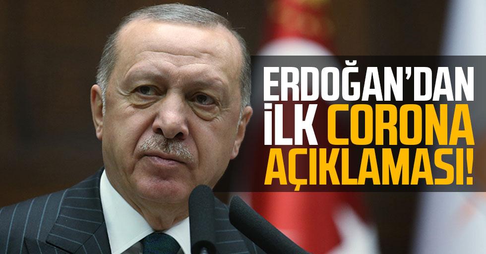 Cumhurbaşkanı Erdoğan'dan, tespit edilen ilk vaka sonrası corona virüsü açıklaması