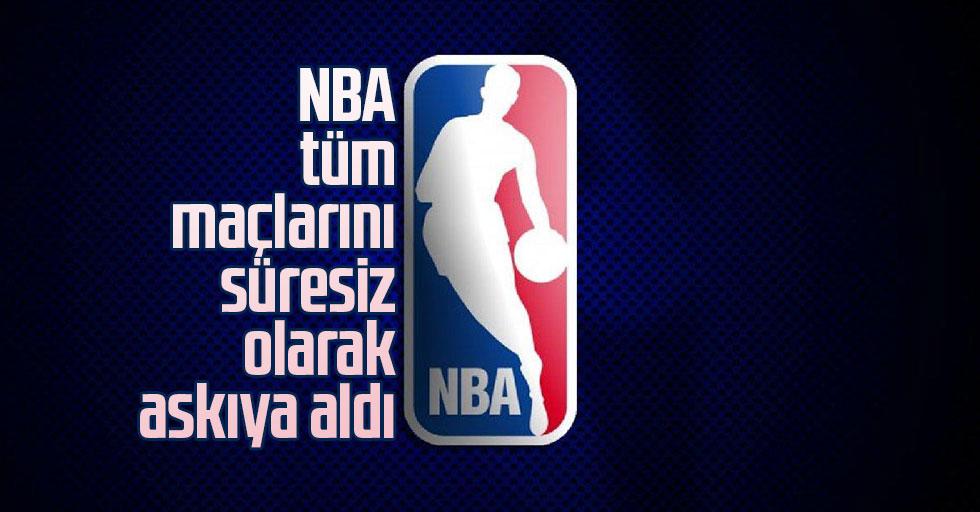 NBA tüm maçları süresiz olarak askıya aldı