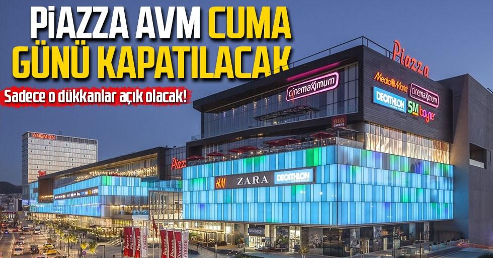 Samsun'daki Piazza AVM Cuma günü kapatılacak