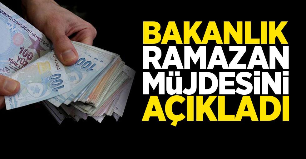 Bakanlık ramazan müjdesini açıkladı