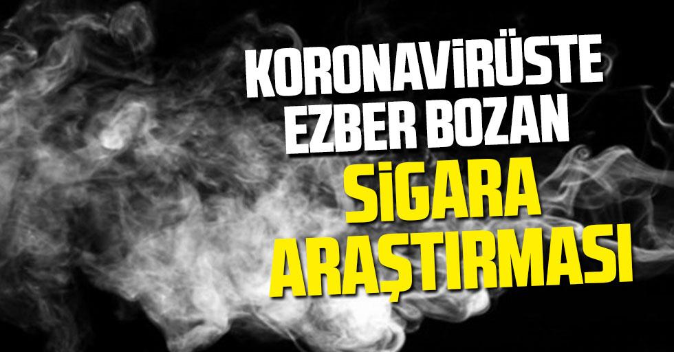 Koronavirüste ezber bozan sigara araştırması
