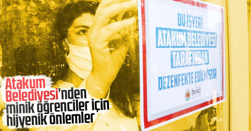 Atakum Belediyesi'nden minik öğrenciler için hijyenik önlemler