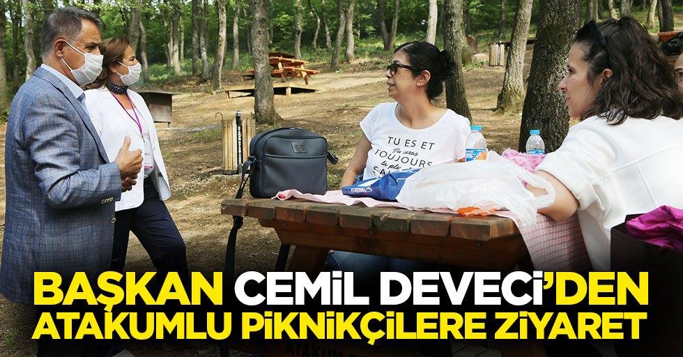 Başkan Cemil Deveci'den Atakumlu piknikçilere ziyaret