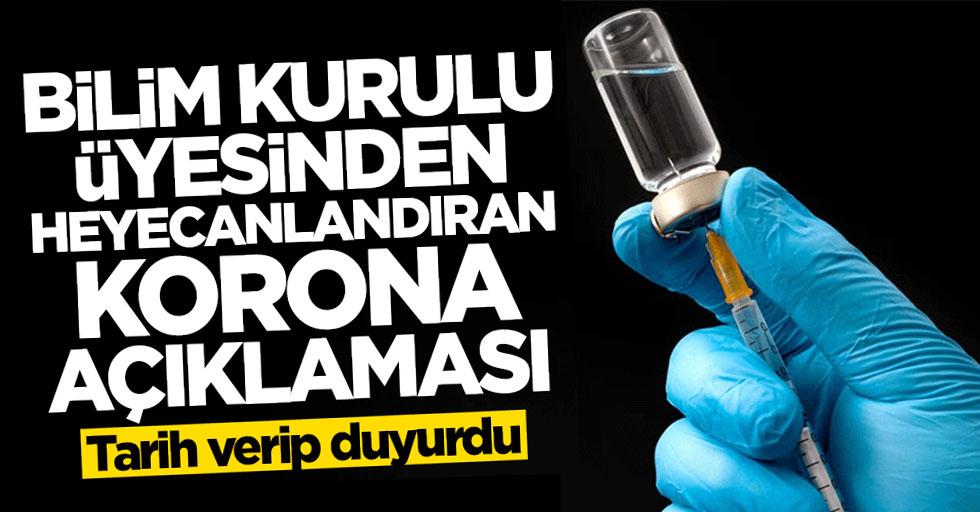 Bilim Kurulu Üyesi Prof. Dr. Ateş Kara'dan heyecanlandıran aşı açıklaması