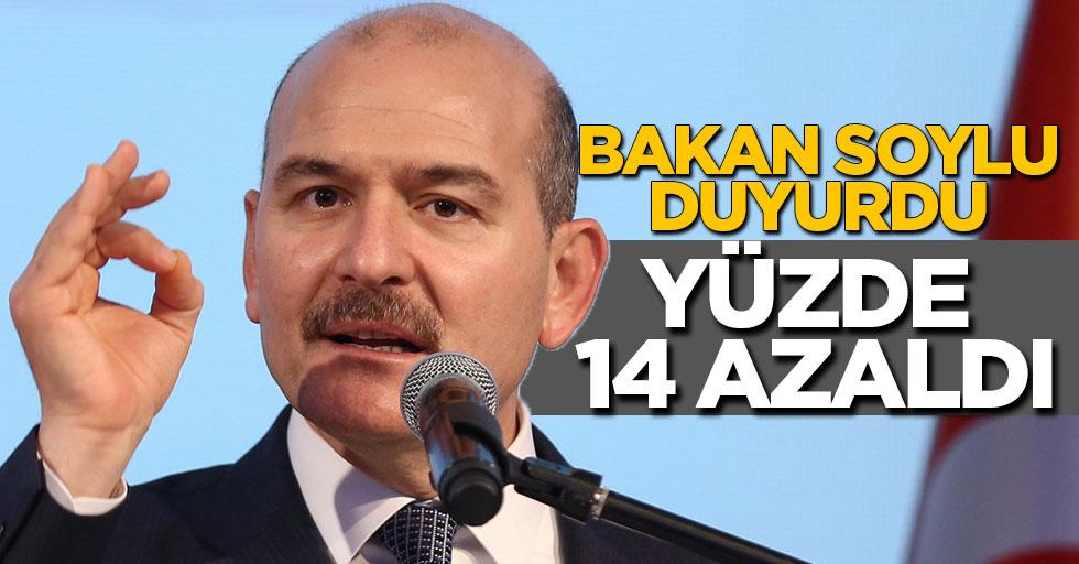 İçişleri Bakanı Soylu açıkladı! Ölüm oranı yüzde 14 azaldı