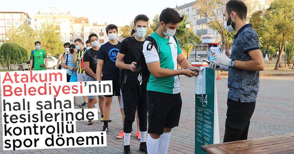 Atakum Belediyesi'nin halı saha tesislerinde kontrollü spor dönemi