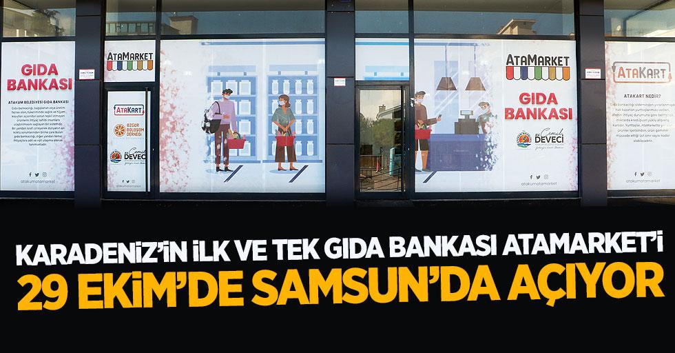Atakum Belediyesi Karadeniz'in ilk ve tek gıda bankası AtaMarket'i 29 Ekim'de Samsun'da açıyor