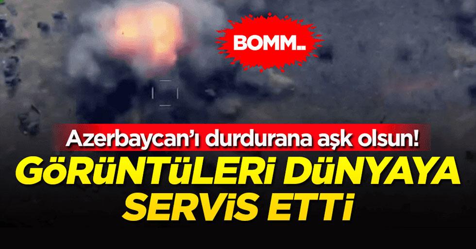 Azerbaycan, Ermenistan'a ait topçu noktası ve tankı imha etti