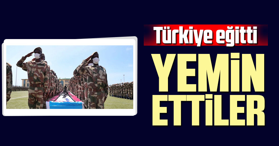 Türkiye eğitti! Yemin ettiler
