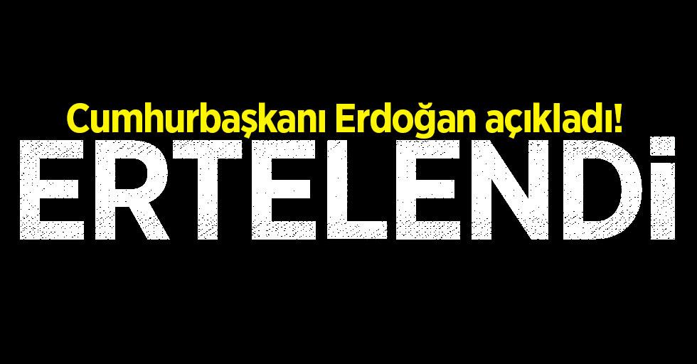 Cumhurbaşkanı Erdoğan açıkladı! AK Parti kongreleri ertelendi