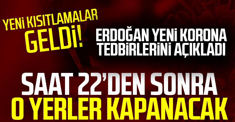 Cumhurbaşkanı Erdoğan, İzmir depreminde son durumu ve yeni koronavirüs tedbirlerini açıkladı