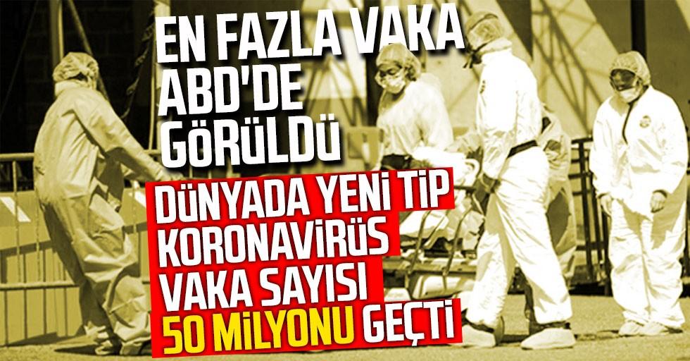 Dünyada yeni tip koronavirüs vaka sayısı 50 milyonu geçti