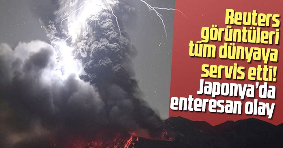Reuters görüntüleri tüm dünyaya servis etti! Japonya'da enteresan olay