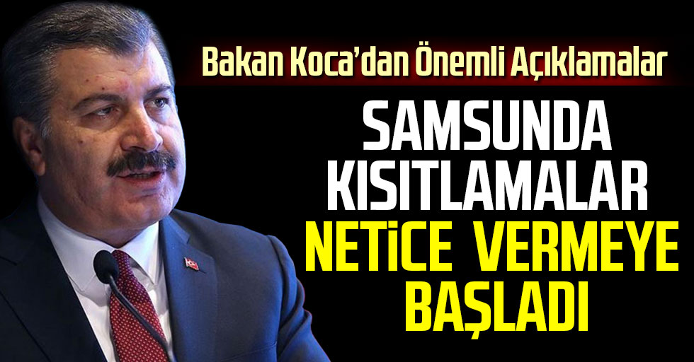 Samsun'da Kısıtlamalar Netice Vermeye Başladı!