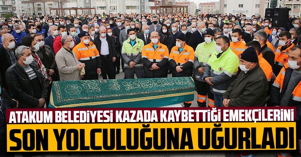 Servis kazasında ölen işçilere hüzünlü veda