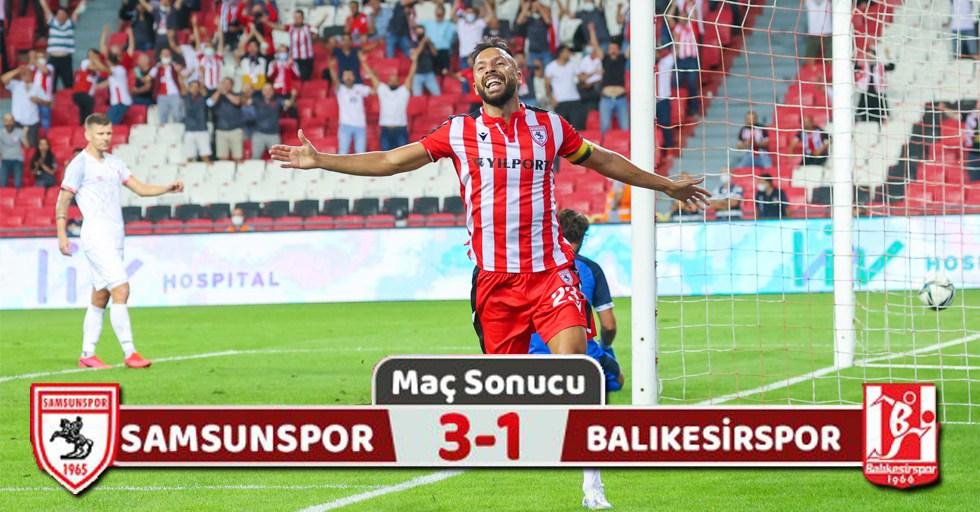 Yılport Samsunspor: 3 Balıkesirspor: 1 (Maç Sonucu)