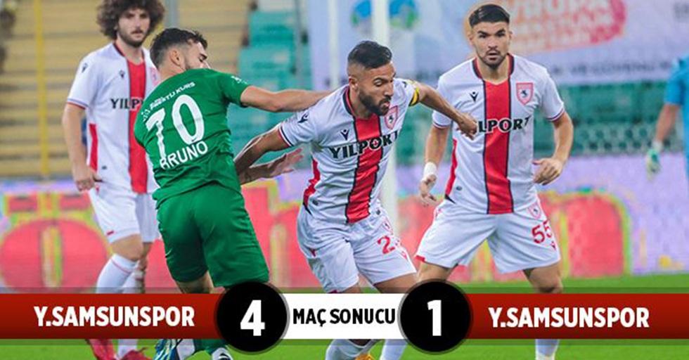 Bursaspor: 4 Yılport Samsunspor: 1 (Maç Sonucu)