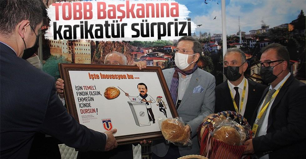 TOBB Başkanına karikatür sürprizi