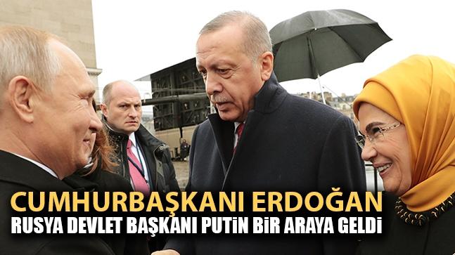 Cumhurbaşkanı Erdoğan, Rusya Devlet Başkanı Putin bir araya geldi