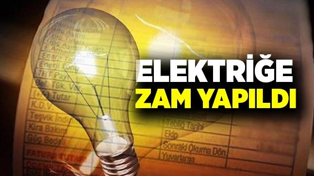 Elektriğe yüzde 14,90 zam geldi!