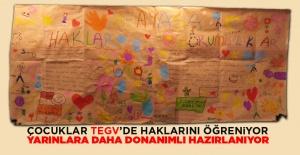 Çocuklar TEGVde haklarını öğreniyor,...