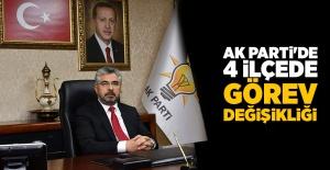 AK Parti'de 4 İlçede Görev Değişikliği
