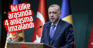 Cumhurbaşkanı Erdoğan ve Moldova Cumhurbaşkanı Dodon ortak basın toplantısı düzenledi