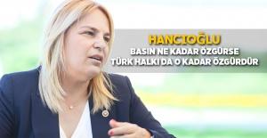 """Hancıoğlu: """"Basın ne kadar özgürse, Türk halkı da o kadar özgürdür"""""""