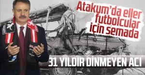 Atakum'da eller futbolcular için semada