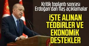 Cumhurbaşkanı Erdoğan alınan tedbirler ve ekonomik destekleri açıkladı!