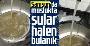 Samsun#039;da muslukta Sular Halen...