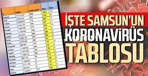 Samsun'un Koronavirüs Tablosu