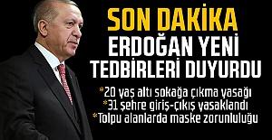 Son dakika: Cumhurbaşkanı Erdoğan yeni koronavirüs tedbirlerini açıkladı