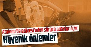 Atakum Belediyesi'nden sürücü adayları için hijyenik önlemler