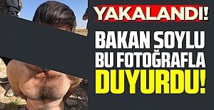 Bakan Soylu bu fotoğrafla duyurdu: Yakalandı