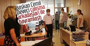 Başkan Cemil Deveci çalışma arkadaşları ile bayramlaştı