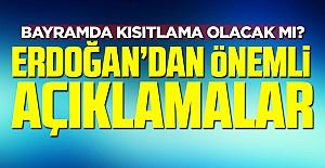 Cumhurbaşkanı Erdoğan'dan Kurban Bayramı açıklaması!