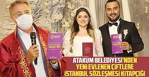 Atakum Belediyesi'nden yeni evlenen çiftlere İstanbul Sözleşmesi kitapçığı