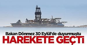 Bakan Fatih Dönmez 30 Eylül'de duyurmuştu... Kanuni demir aldı