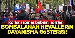 Ermeniler ve PKK'lılar Paris'te el ele gösteri yaptı