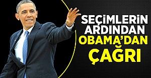Dünya  Seçimlerin ardından Obama'dan çağrı Dünya Seçimlerin ardından Obama'dan çağrı