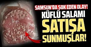 Samsun'da Küflü Salamı Satışa Sunmuşlar!